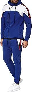 Mens Tracksuit Set Gym Bottoms Top Jogging Joggers Sports Suit Zip Hoodie Jacket Pants Plus Size M-5XL