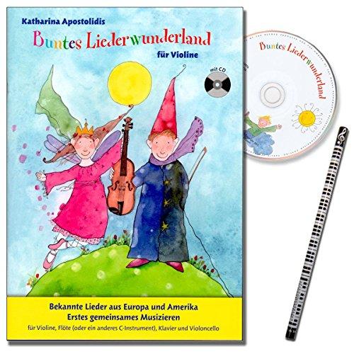 Kleurrijk liedwonderland - bekende liedjes uit Europa en Amerika. Eerste gemeenschappelijk muziek voor viool, fluiten, piano en violoncello