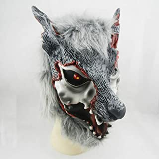 Hzonder Halloween Mask,Painted Face Wolf Head Masks,Costume Mask,Carnival, Christmas, Easter, New Years Eve Party