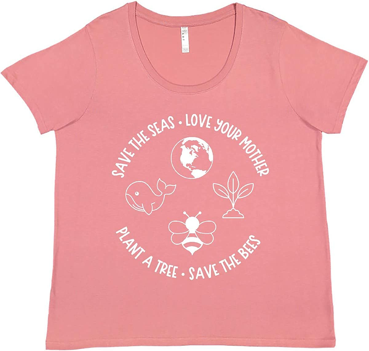 inktastic Earth Day Save The Seas Love Plus Your Mother Women's Popular New item