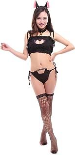Nuoqi Cat Keyhole Lingerie Anime Cosplay Sexy Kitten Costume Underwear Sleepwear