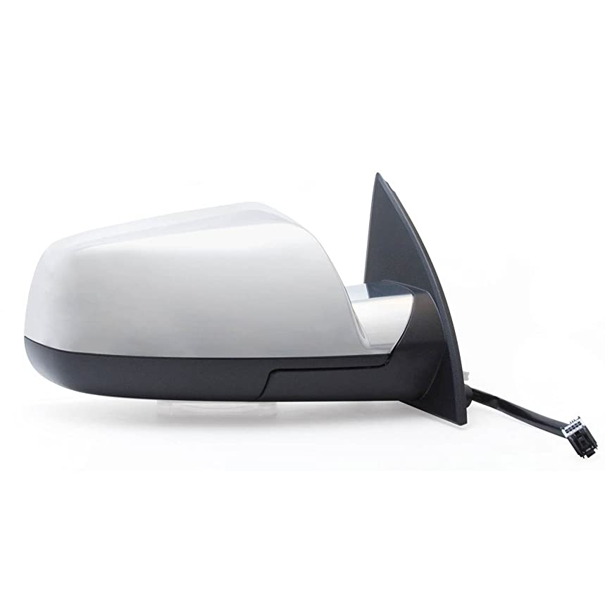Fit System 62123G Chevrolet/GMC Passenger Side OE Style Heated Power Replacement Mirror with Memory and Chrome Cover