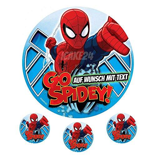 Tortenaufleger Geburtstag Tortenbild Zuckerbild Oblate Motiv: Marvel Spiderman (Zuckerpapier)