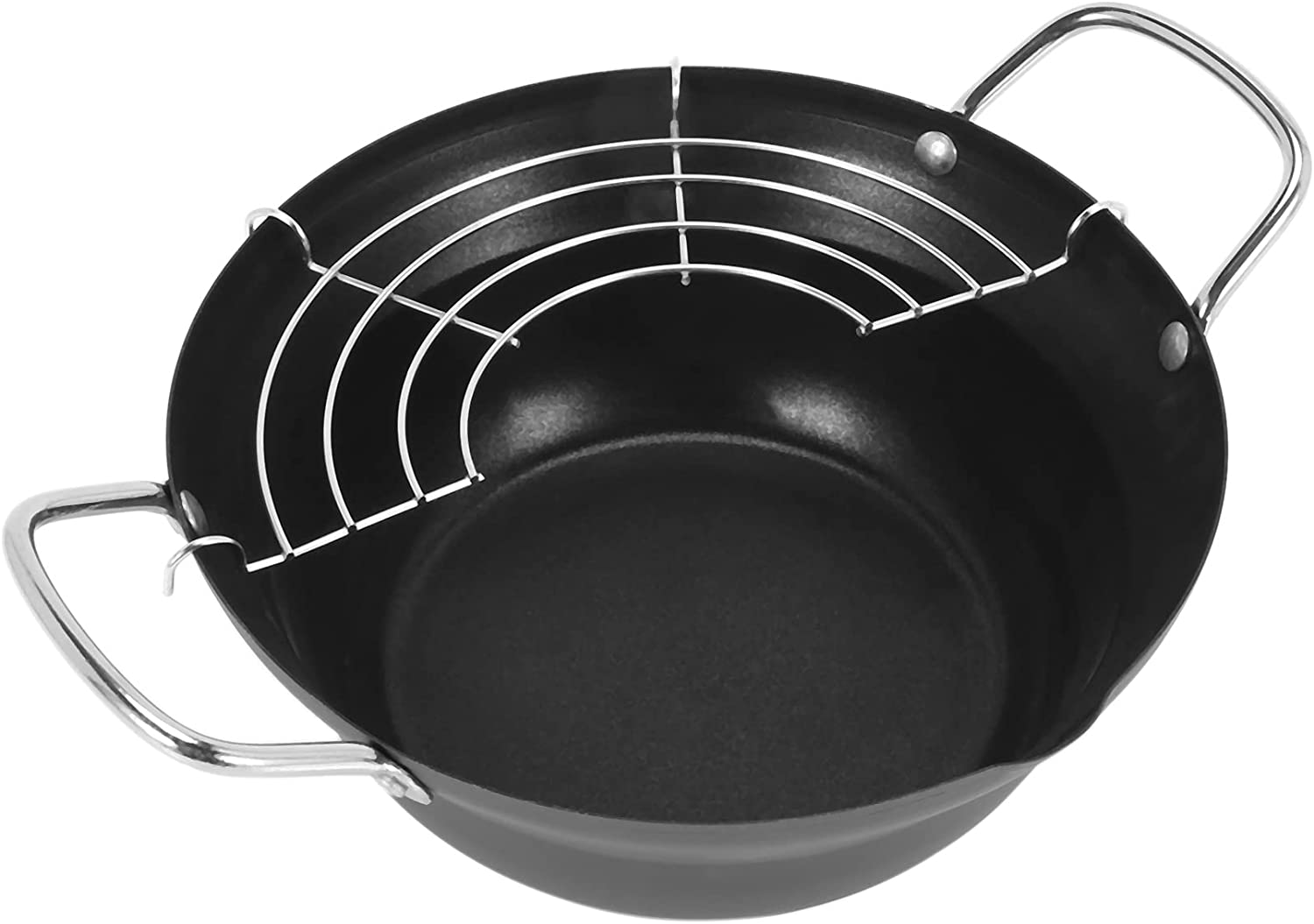 Laurel Year-end annual account 20cm Easy Pour Non Stick Pot with Fryer Coating Tempura O Selling