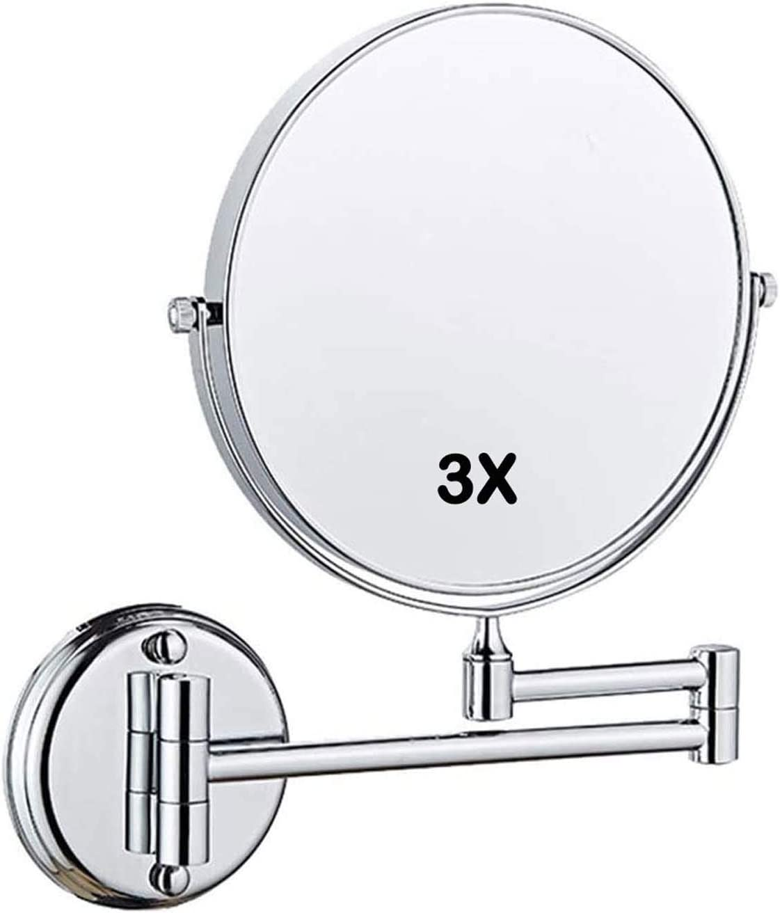 ZHCHL Wall Mounted Max 90% OFF Makeup Mirror Ma with Round 3X Max 71% OFF