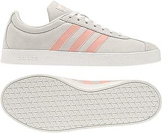 adidas Women's Vl Court 2.0 White/Pink/White 6 M