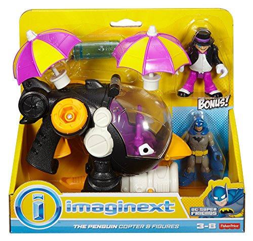 Fisher-Price Imaginext DC Super Friends, Penguin Copter & Batman
