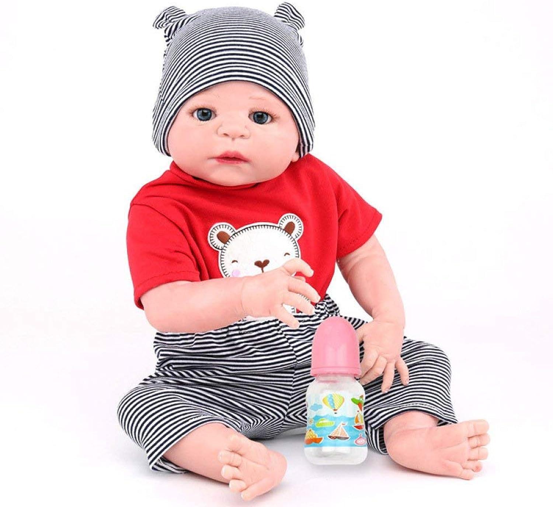 HSDDA Puppenkissen Volle Silikon Vinyl Reborn Babypuppe Realistische Handmade Babies Puppen 22 Zoll 55 cm Lebensechte Kinder Spielzeug Kinder Geburtstagsgeschenk Cartoon-Plüschkissen