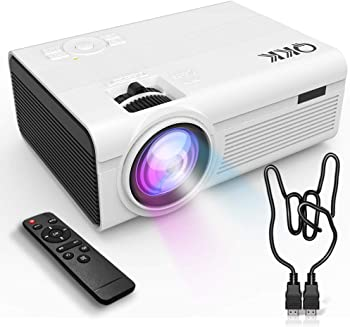 QKK 2400-Lumens LCD Home Theater Projector