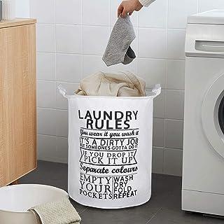 BUCKETLIST® Large Capacity Folding Large Waterproof Cloth Laundry Basket,Laundry Bag,Collapsible Storage Bag with Handles,...