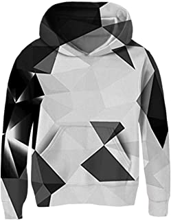 Boys Girls Novetly Hoodies 3D Print Pullover Hooded Sweatshirts with Pockets 5-13 Years