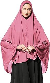 b561d51a7b3eb Dreamyth-Summer Women's Prayer Khimar Ready to Wear Long Hijab with Under  Muslim Scarf