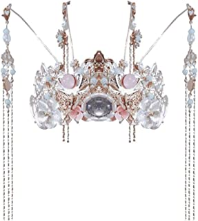 Diaod Bambini Hanfu Phoenix Crown Girls Accessori per Capelli Super Fairy Costume Capelli Corona Lunga Nappa Performance P...