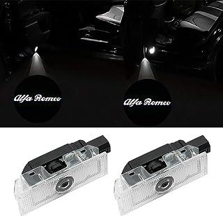 ドアウェルカムライト カーテシライト カーテシランプ レーザーロゴライト LEDロゴ投影 2個セット 車用 カーテシ 純正交換タイプ Alfa Romeo Giulia Romeo Mito 159 Brera Spider Stelvio用...