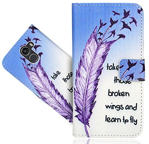 FoneExpert® Wileyfox Swift 2 / Swift 2+ / Swift 2 Plus Handy Tasche, Wallet Hülle Flip Cover Hüllen Etui Hülle Ledertasche Lederhülle Schutzhülle Für Wileyfox Swift 2 / Swift 2+ / Swift 2 Plus
