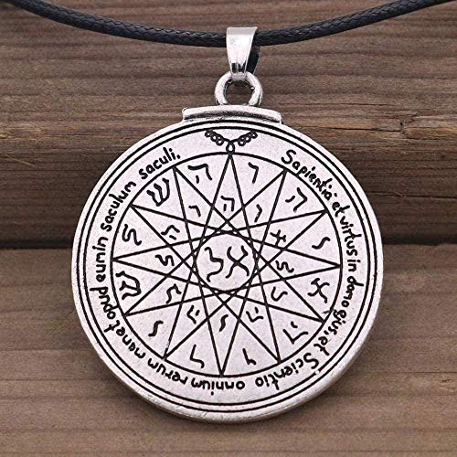 LBBYMX Co.,ltd Necklace Talisman of Wisdom Key of Solomon Fourth Pentacle of Mercury Seal Pendant Pagan Wiccan Jewelry Vintage Necklace Vintage