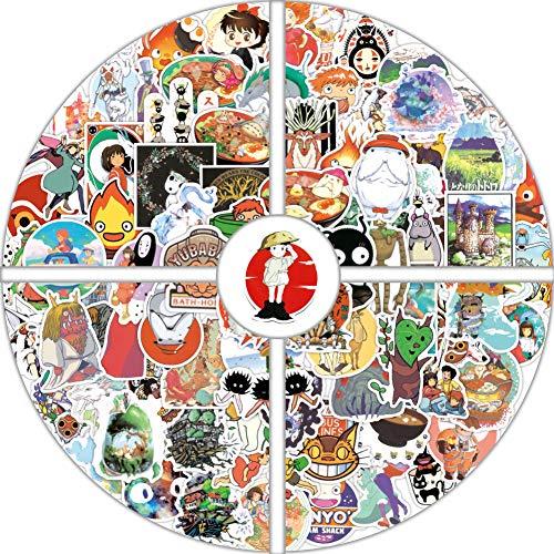 100PCS Miyazaki Hayao Anime Stickers, Studio Ghibli Stickers Spirited Away No Face Man My Neighbor Totoro Waterproof Laptop Stickers for Teens,Skateboard Stickers Luggage Decal