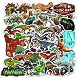80pcs Waterproof Nature Dinosaur Stickers for Laptop Water Bottle Scrapbook Sticker Pack