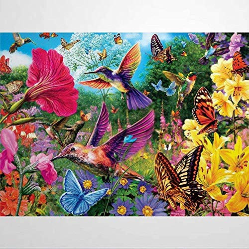 Jigsaw Puzzles for Adults 1000 Piece - Hummingbird Garden - Kids Puzzles Toys Educational Puzzles Jigsaw
