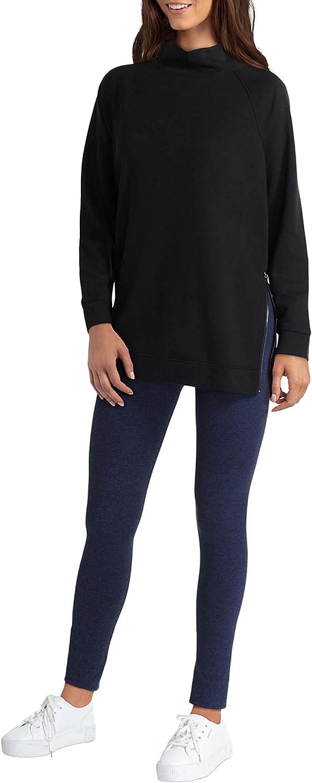 H Halston Long Sleeve Mock Neck Raglan Pullover