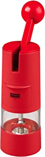 Kuhn Rikon Adjustable Ratchet Grinder with Ceramic Mechanism for Salt, Pepper and Spices, 8.5 x 2.25 inches, Red