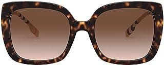 نظارات شمسية مربعة بلاستيكية من Burberry Caroll BE 4323 385413 بلون هافان داكن عدسات بنية متدرجة