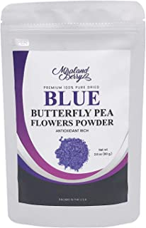 MiralandBerry 100% Blue Butterfly Pea Flower Powder 2.8oz (80g), Culinary Grade, Natural Superfood, Raw with Antioxidants