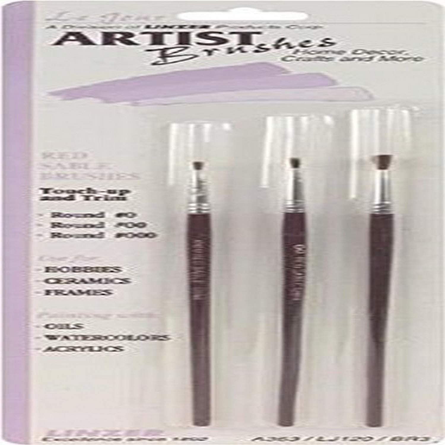 J.R. Edwards A363 Large-scale sale 3-Piece Red Set Sable Raleigh Mall Brush Artist