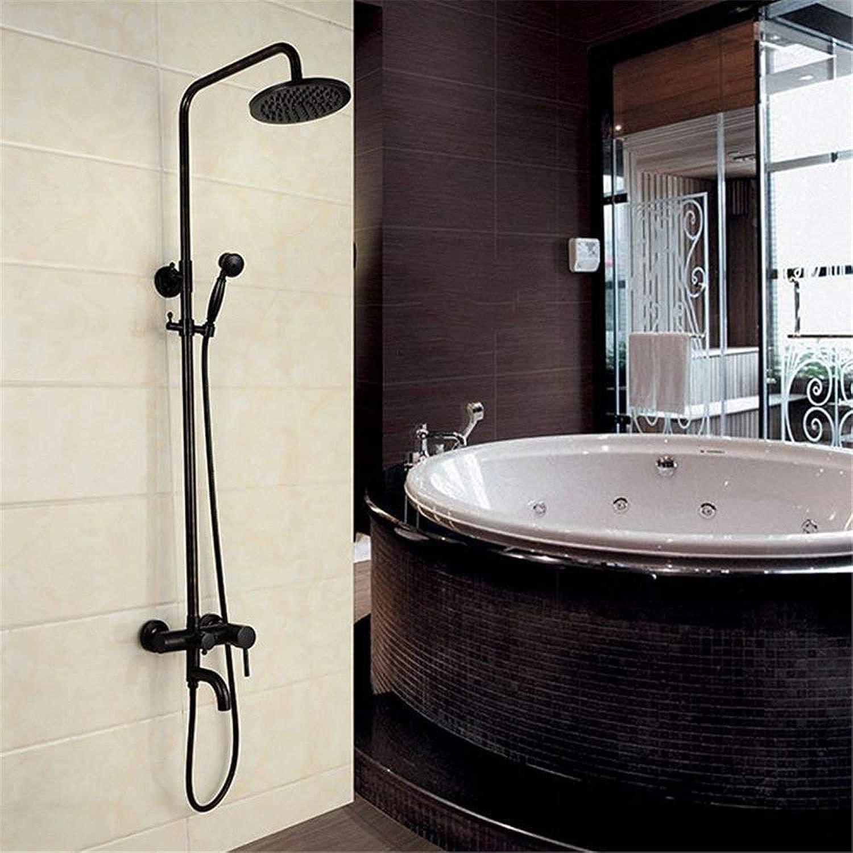 HUAIX Home Waschbecken-Mischbatterie Badezimmer-Küchen-Becken-Hahn auslaufsicher Speichern Sie Wasser Retro-Diamant DREI hao Goldene Dusche Wand-Sprühwasser Sprinkler