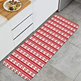 Unicorns Farting Christmas Eve Crackers Claus Red Non-Slip Kitchen Mat Rug Washable Natural Fiber Indoor Doormat