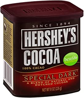 Hershey's Special Dark Cocoa, 8-Ounce Container (Pack of 12)