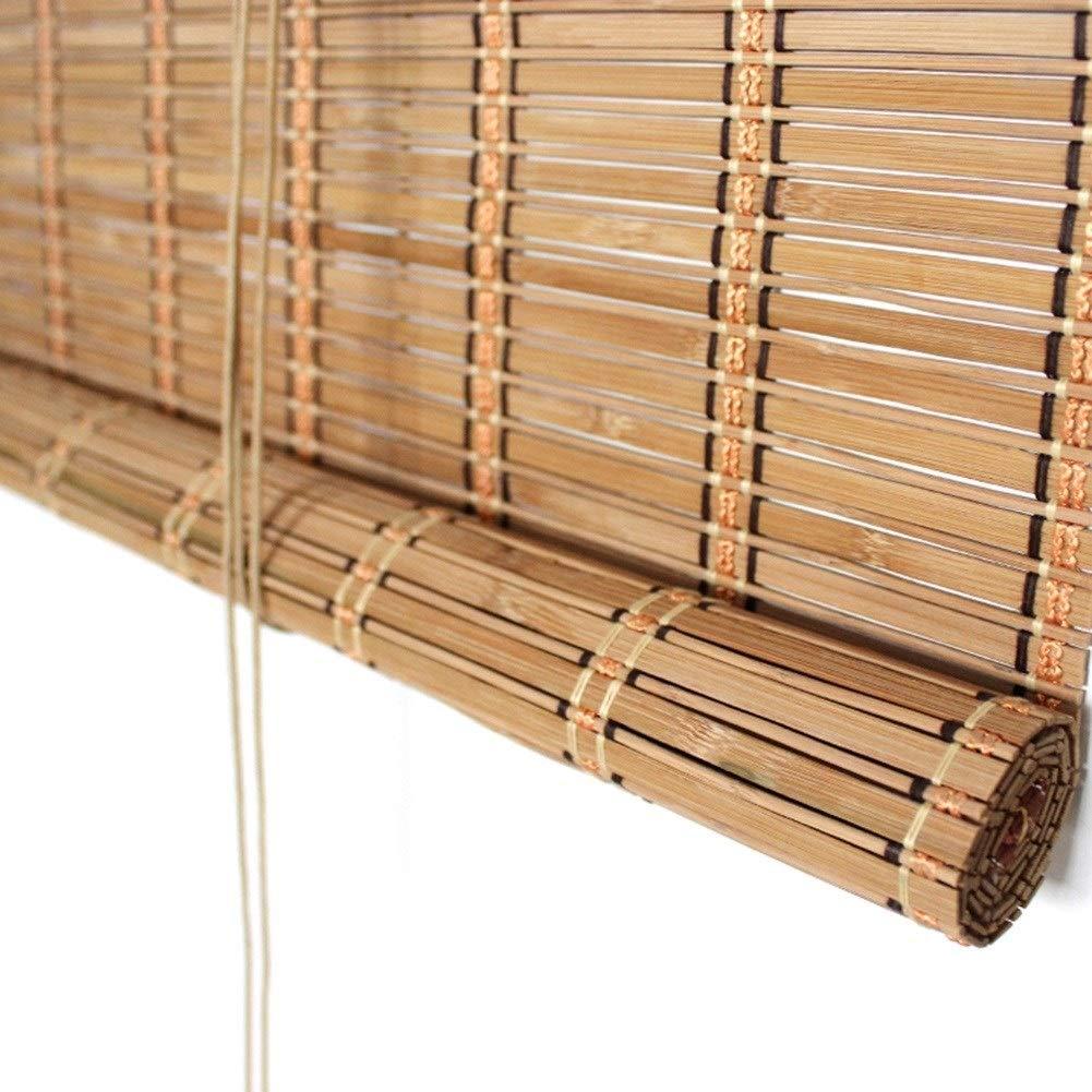 Persiana de bambú Persianas Enrollables Exteriores para Balcones De Pérgola De Patio con Porche, Persiana Enrollable De Bloque De Filtrado De Luz Exterior, 85cm / 105cm / 125cm / 145cm De Ancho: