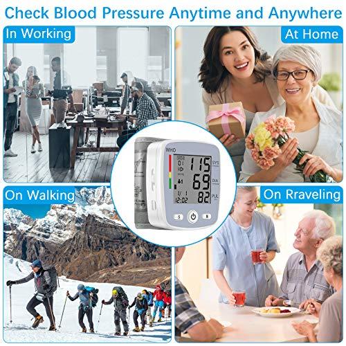 61H9xIn6g L - U-Kiss Tensiómetro de muñeca, monitor de presión sanguínea para el hogar o portátil (Gris)