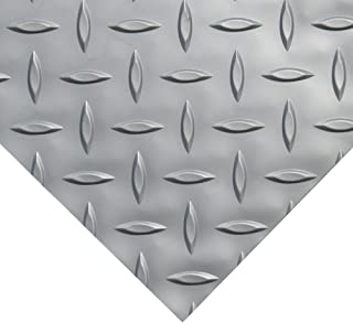 Rubber-Cal Diamond Plate Metallic PVC Flooring