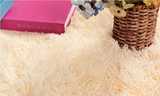 ACTCUT Super Soft Indoor Modern Shag Area Silky Smooth Fur Rugs Fluffy Anti-Skid Shaggy Area Rug Dining Living Room Carpet Comfy Bedroom Floor 4- Feet by 5- Feet (Yellow)