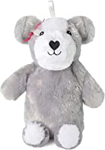 Slumberz 750ml 3D Dog Hot Water Bottle with Soft Plush Cover, Grey