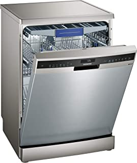 Siemens Freestanding Dishwasher SN257I10NM Silver Inox color, 60cm size, with varioSpeed Plus for washing in up to a third of the time, energy efficiency class A++ and height adjustable.