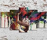 Impresión En Lienzo 5 Piezas Cuadro Sobre Lienzo,5 Piezas Cuadro En Lienzo,5 Piezas Lienzo Decorativo,5 Piezas Lienzo Pintura Mural,Regalo,Cuadro Abstracto Abrazo Amor Pareja,Decoración Hogareña