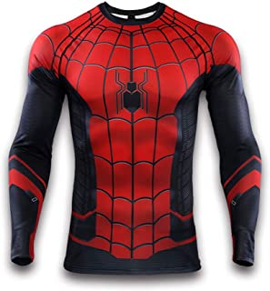 Men's Compression Shirt Super-Hero Series Cosplay Long-Sleeve Tee Fitness Running Workout Sports Base Layer Tops