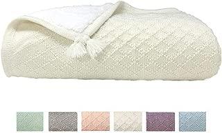 effe bebe Knoten Cable Knit Sherpa Baby Blanket 30