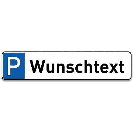 Schilderio Parkplatzschild Mit Ihren Wunschtext Oder Kfz Kennzeichen Nummernschild Autokennzeichen 52x11 Cm Stabile 3mm Aluminiumverbundplatte Auto