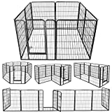 ZENY Foldable Metal Exercise Pen & Pet Playpen Puppy Cat Exercise Fence Barrier Playpen Kennel - 8 Panels (31.5' W x 39.4' H)