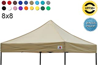 ABCCANOPY Pop Up Canopy Replacement Top Cover 100% Waterproof Choose, Bonus 4 x Weight..