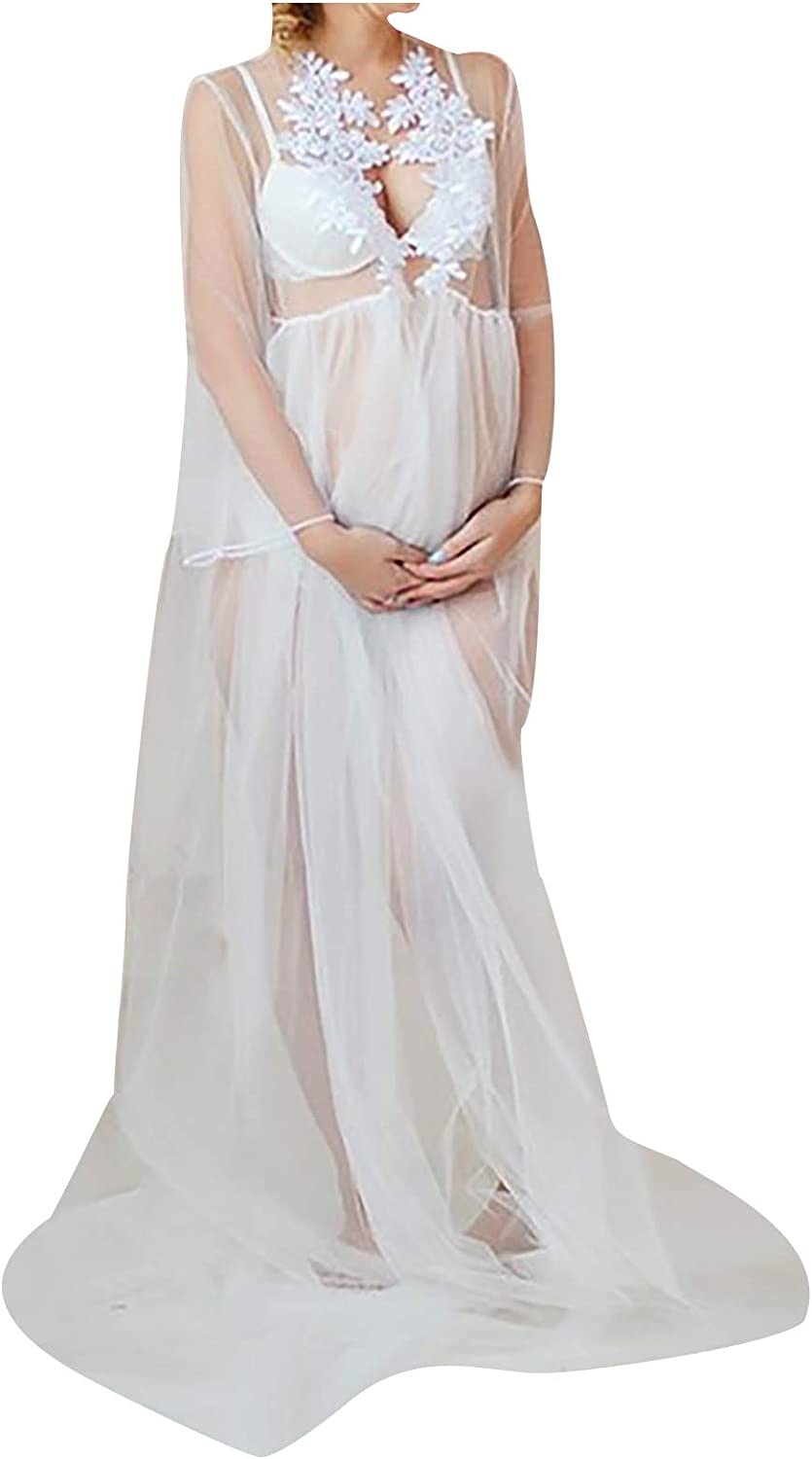Limited price sale Gwewei4df Max 65% OFF Women Pregnants Sleeveless Strapless Sexy Perspective