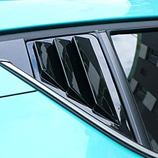 ITrims 2016-2019 for Toyota C-HR CHR Auto Rear Car Side Window Louvers Vent Cover Trim Decorative 2PCS (Light Black)