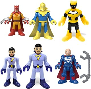 Imaginext Fisher Price DC Superfriends Serie 6 - Juego completo (bolsas selladas, incluye Dr. Fate, Lex Luthor (Super Suit), Wonder Twins (Zan & Jayna), Duke Thomas (firmado) y Catman