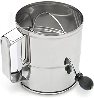 Fox Run 4655 Flour Sifter, Stainless Steel, 8-Cup