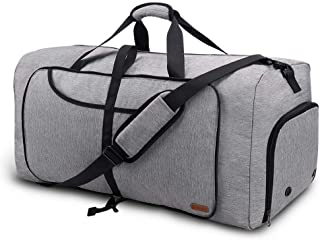 Vogshow Travel Duffel Bag, 75L Foldable Overnight Weekender Bag with Shoes Compartment for Men & Women, Water-Resistant La...