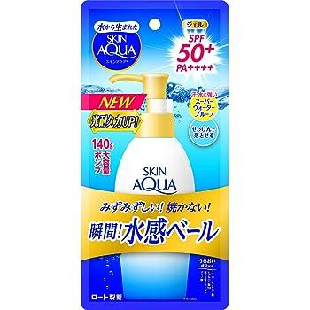 スキンアクア (SKIN AQUA) UV スーパー モイスチャージェル 大容量ポンプタイプ 日焼け止め 無香料 140g SPF50+ / PA++++ 紫外線 ダメージを受けにくく劣化しずらい紫外線吸収剤を配合