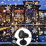Luces de proyector de Navidad de copo de nieve, luces de proyector LED de nevadas giratorias Impermeables al aire libre...